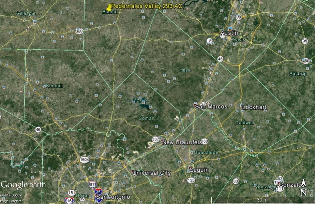 Pedernales Valley 293 location